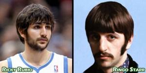 Ricky Rubio sosie de Ringo Starr