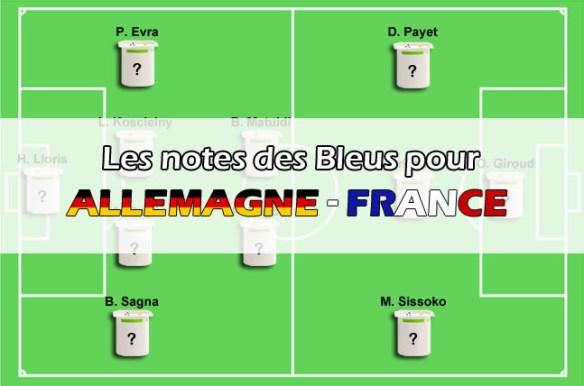 Allemagne - France (0-2) : les notes des Bleus
