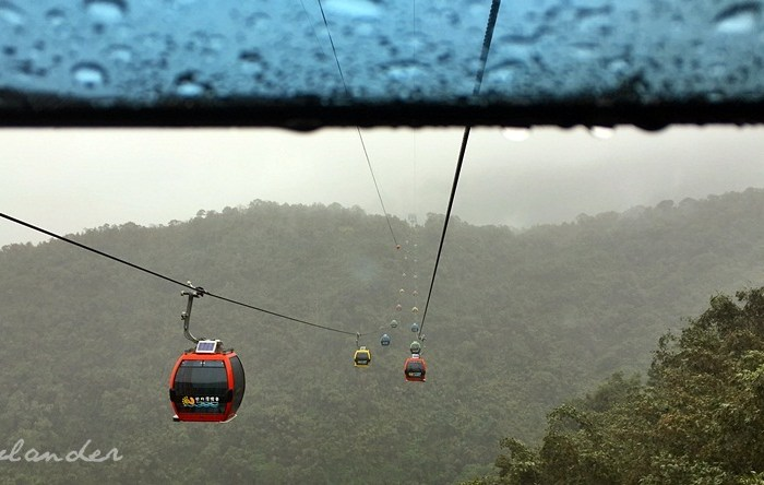 Up in the Clouds on The Sun Moon Lake Ropeway in Taiwan