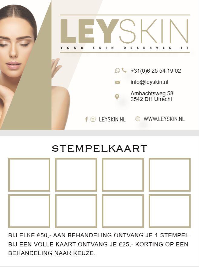 Leyskin - Stempelkaart nieuw