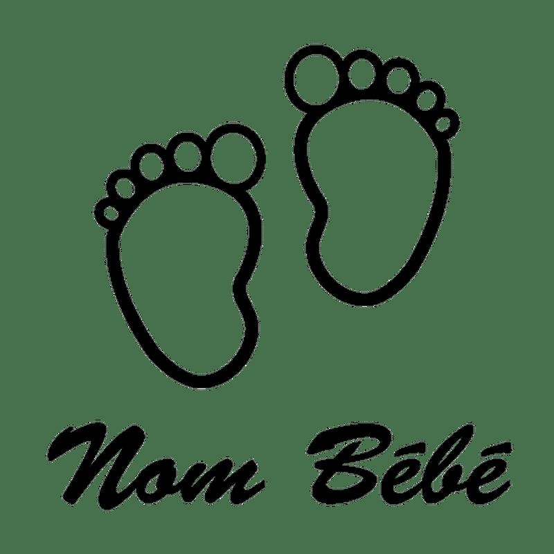 sticker baby an bord petits pieds name zum personalisieren