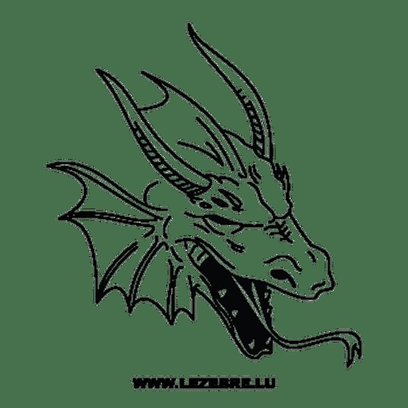Sticker Autocollant Dragon Tete 16