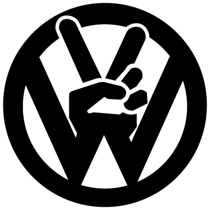 Jdm Vw Peace And Love Sticker