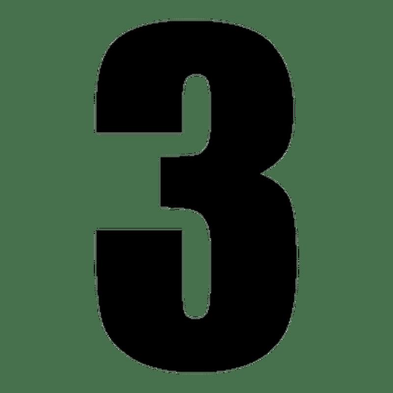 Set Of 2 Number 3 Race Decals