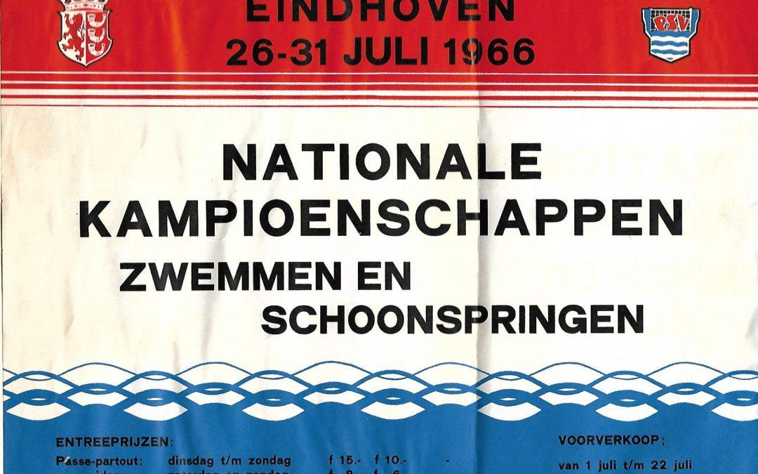 Affiche – Nederlandse kampioenschappen zwemmen en schoonspringen (1966)