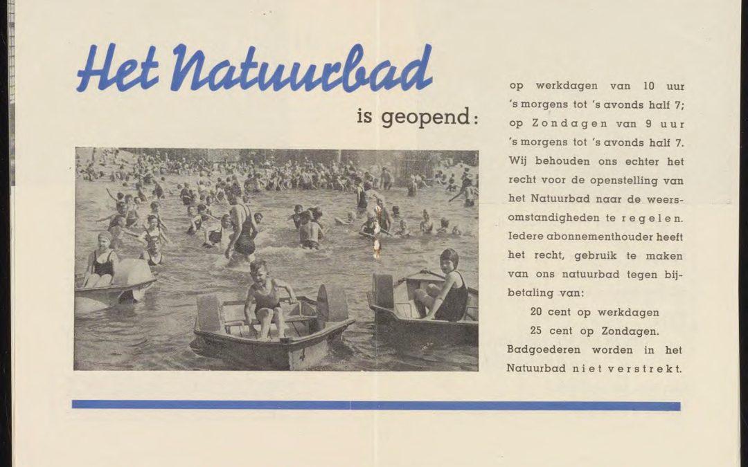 Het Amsterdamse Sportfondsen-Natuurbad was tevens de allereerste Nederlandse kunstijsbaan