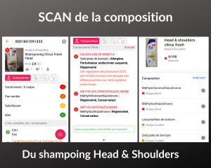 scan de la composition head & shoulders
