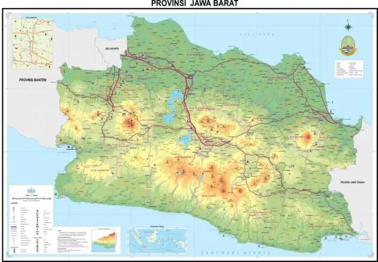 Peta Jawa Barat Lengkap