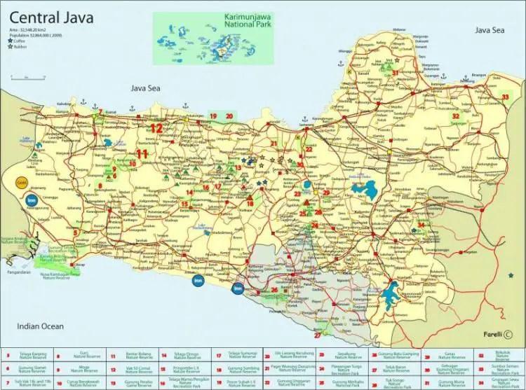 Peta Jawa Tengah Lengkap
