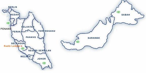 Peta Malaysia Hitam Putih