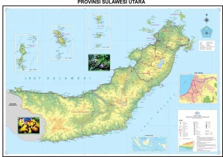 Peta Sulawesi Utar