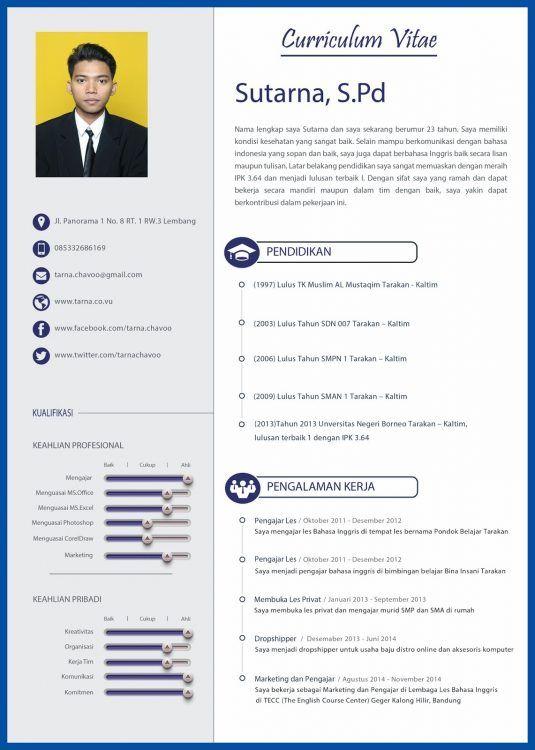 Contoh CV Kreatif Untuk Lamaran Marketing