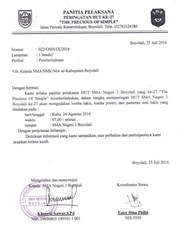 Contoh Surat Dinas Penugasan Staff Instansi