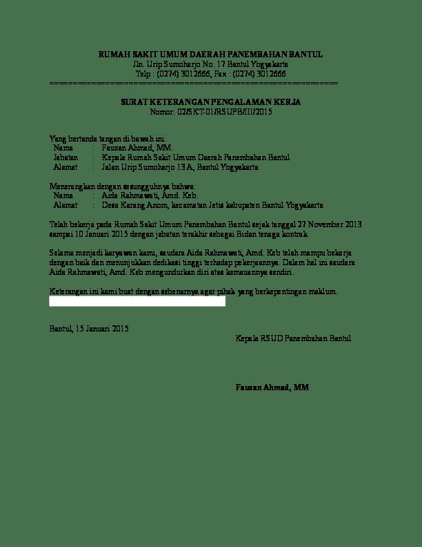 Contoh Surat Paklaring Dari Rumah Sakit