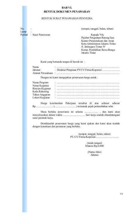 Contoh Surat Penawaran Jasa Cleaning Service