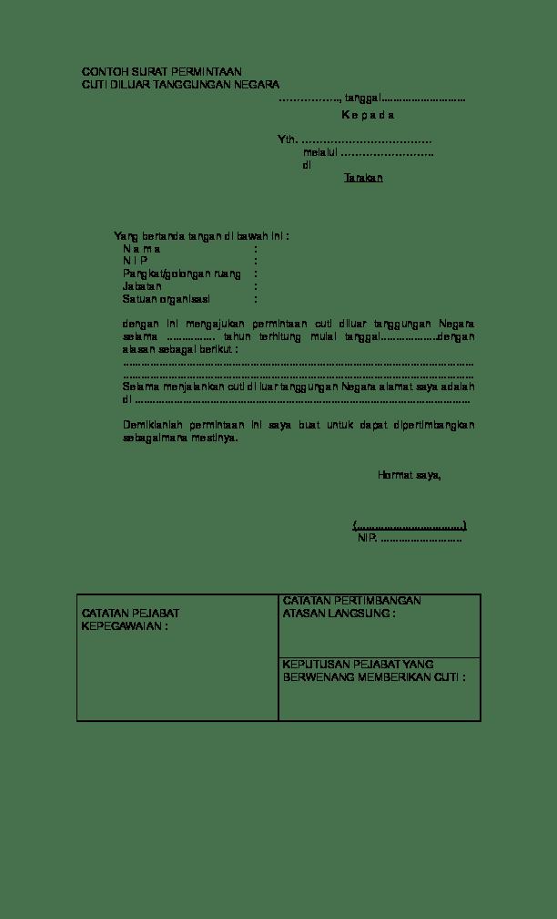Contoh Surat Izin Cuti Polri