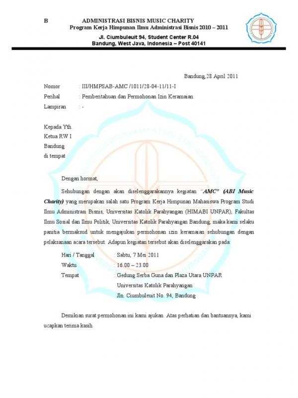 Contoh Surat Izin Keramaian Untuk Konser Musik