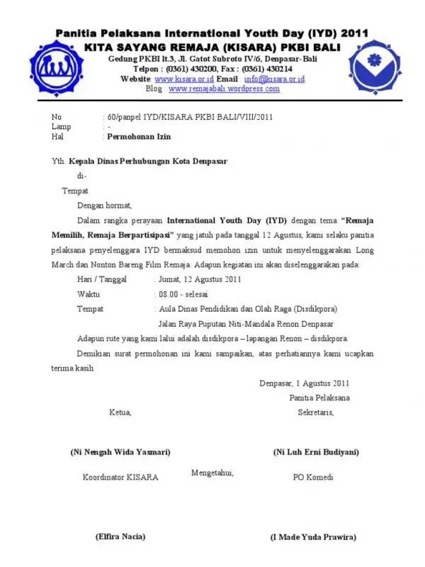 Contoh Surat Permohonan Dinas Perhubungan
