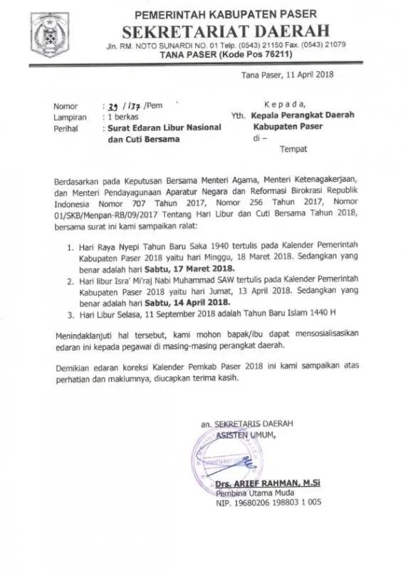 40++ Contoh surat edaran resmi pemerintah terbaru yang baik dan benar