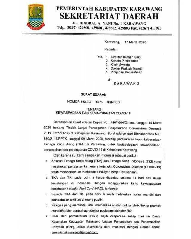 Surat Edaran Pemerintah Daerah