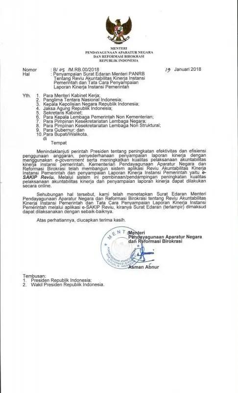 Surat Edaran Resmi Pemerintah