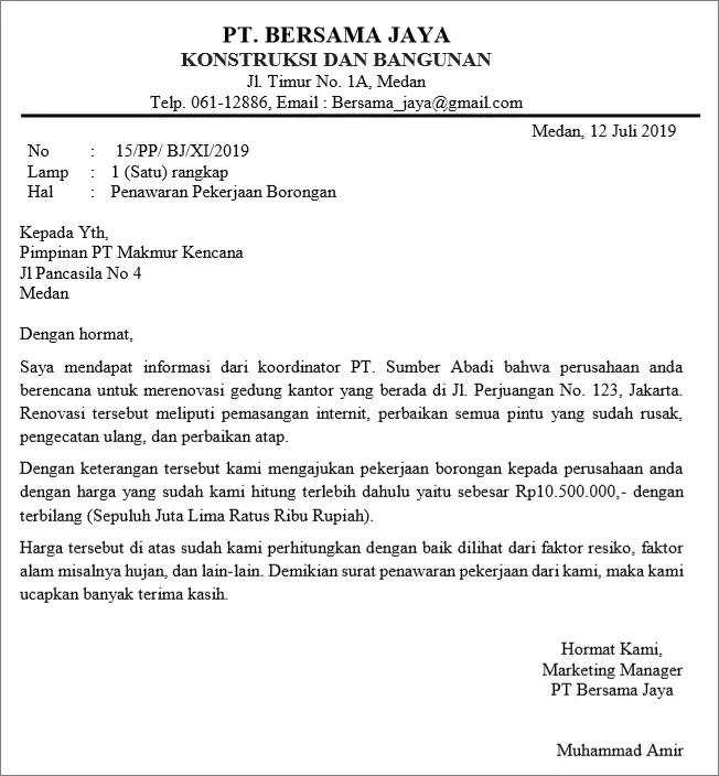 Surat Permintaan Penawaran Jasa Renovasi