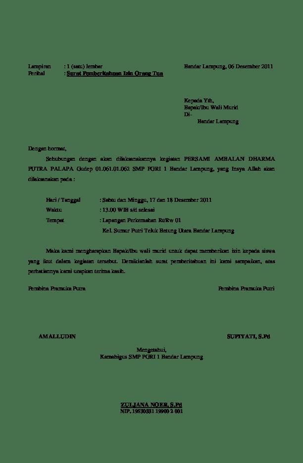 Surat Permohonan Izin Mengikuti Kegiatan Pendidikan Latihan SAR