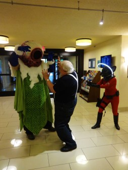 George R.R. Martin being attacked by Pulp Characters—Bubonicon (Albuquerque, New Mexico)