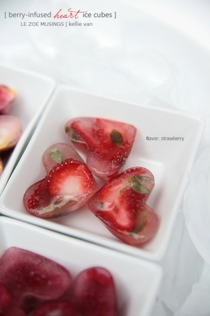 berry infused heart ice cubes3