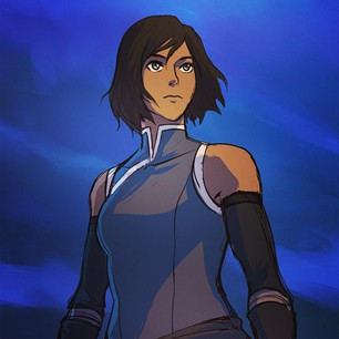 A picture of the character Korra
