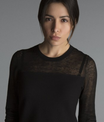 A picture of the character Sameen Shaw