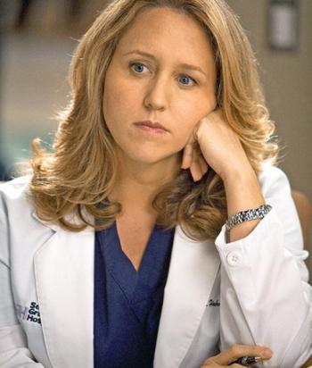 Erica Hahn - Brought in as the new cardio God, she and Callie have a connection which everyone else sees. They have sex, which blows Erica's mind. Not Callie's though. Erica was last seen walking into the parking lot.