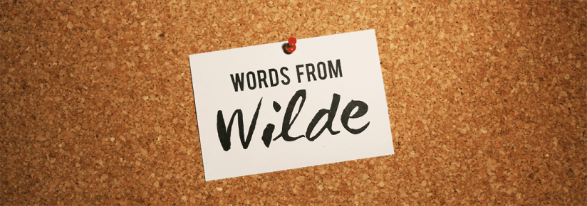 Words from Wilde