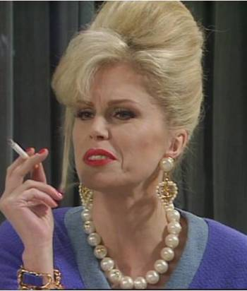 Patsy Stone - Her full name is Eurydice Colette Clytemnestra Dido Bathsheba Rabelais Patricia Cocteau Stone. She is complete unrealistic and unbelievable and, apparently briefly identified as a man. We're not 100% sure what that really mean, and her gender designation may change.