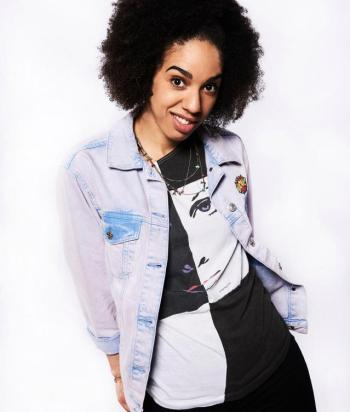 Bill Potts - The Twelfth Doctor's companion. She's (rightly) scared of The Master/Missy, and after being shot gets turned into the first Cyberman. Later her liquid alien girlfriend (Heather) returns to save her ... by having her brain copied into another liquid alien body.