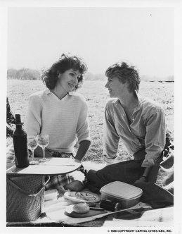 the two ladies having a romantic picnic
