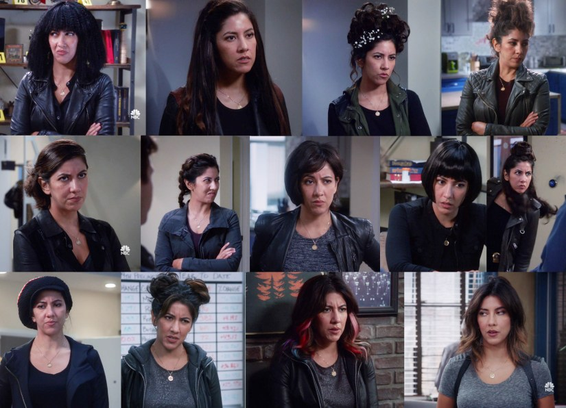 """All of Rosa's hairstyles in Season 6 Episode 6 """"The Crime Scene"""""""