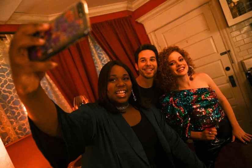 Pictured:(l-r) Alex Newell as Mo, Skylar Austin as Max, Jane Levy as Zoey Clarke -- (Photo by: Sergei Bachlakov/NBC/Lionsgate)