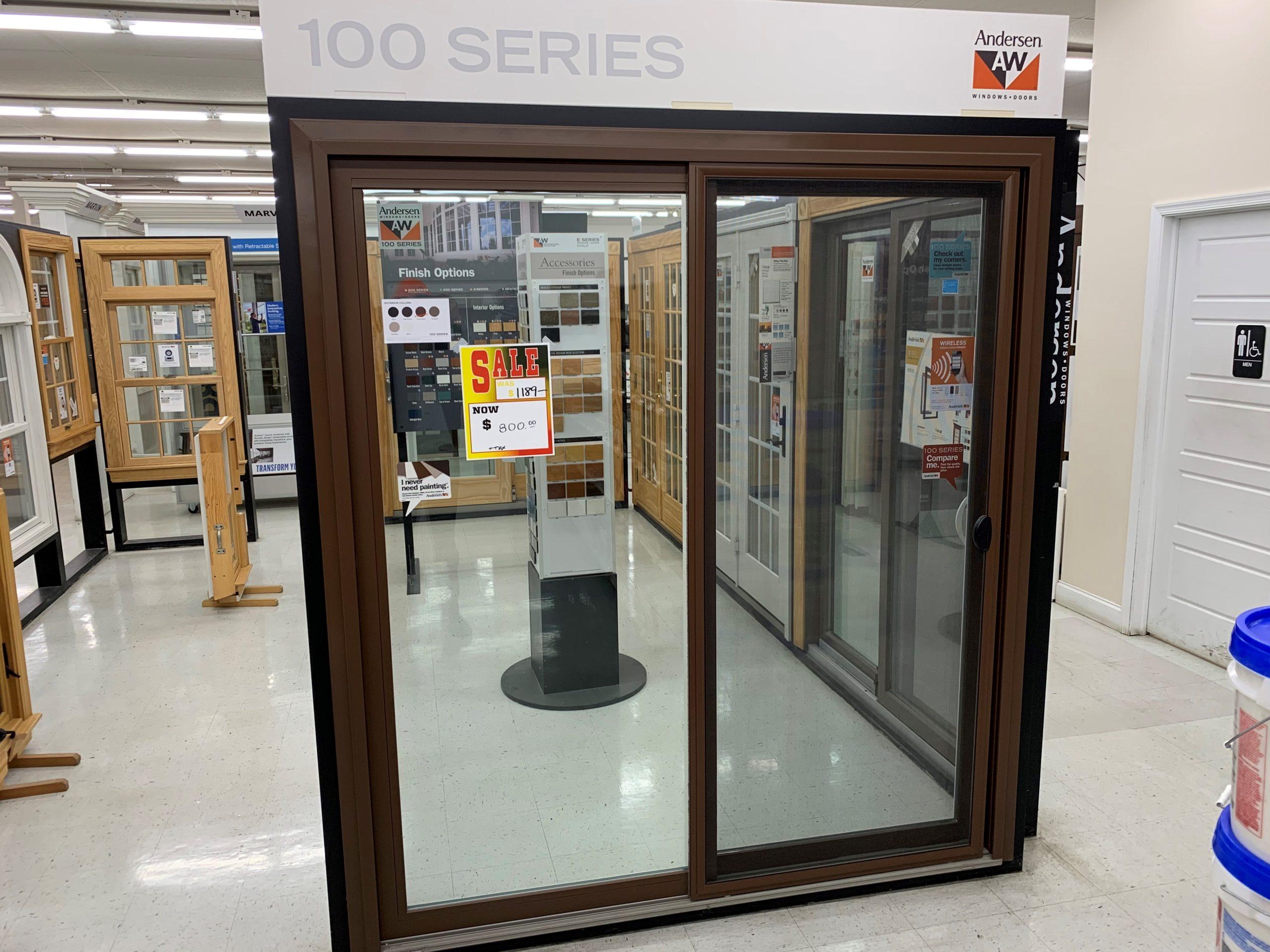andersen 100 series 6 0w x 6 11h store display patio door 800 harrisburg