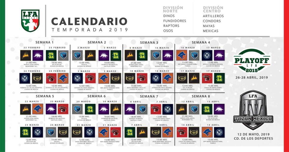 Calendario Lfp.Calendario Lfa