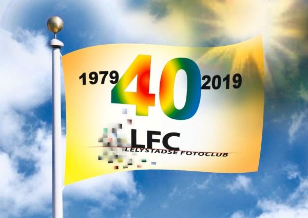 Vlag 40 jarig bestaan LFC