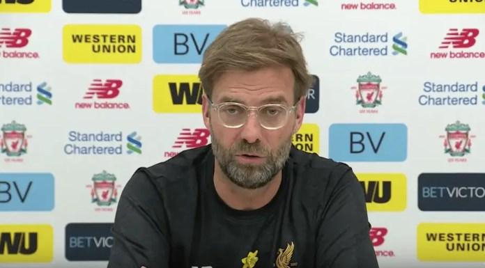 Jurgen Klopp - Liverpool vs Bournemouth