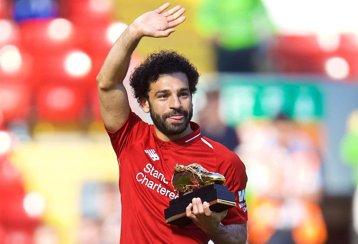 Mohamed Salah shares Liverpool's ambitions, to stay with the Kops