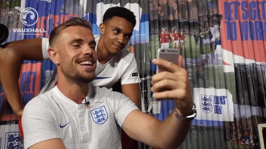 Watch Jordan Henderson and Trent Alexander-Arnold video call an England supporter