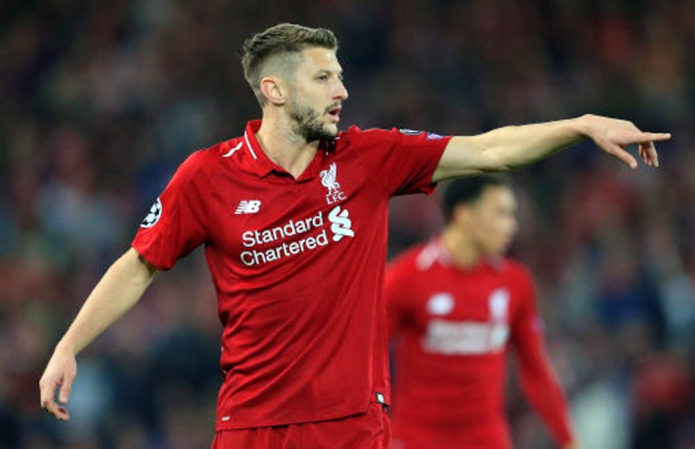 Adam Lallana in contention for return from injury vs Everton