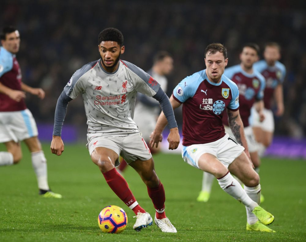 Liverpool lose Joe Gomez for six weeks