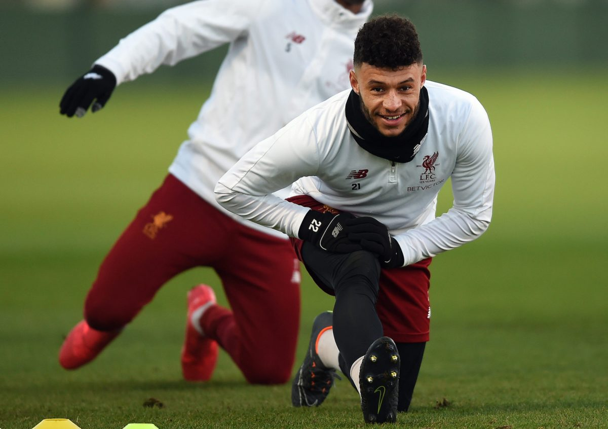Alex Oxlade-Chamberlain could return to full training in February