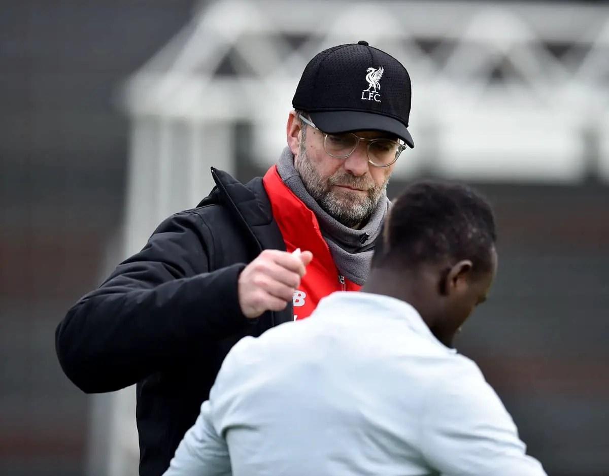 Jurgen Klopp reacts after Andy Robertson sigs new deal