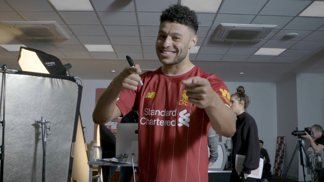 Watch: Alex Oxlade-Chamberlain's hilarious vlog at Liverpool's new kit shoot