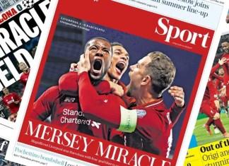 Liverpool 4-0 (4-3) Barcelona